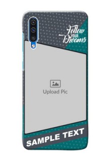 Galaxy A30s Back Covers: Background Pattern Design with Quote