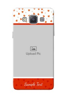 Samsung Galaxy A5 (2015) Orange Love Symbol Mobile Cover Design