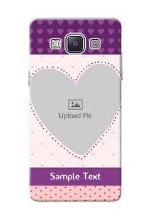 Samsung Galaxy A5 (2015) Violet Dots Love Shape Mobile Cover Design