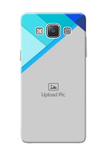 Samsung Galaxy A5 (2015) Blue Abstract Mobile Cover Design