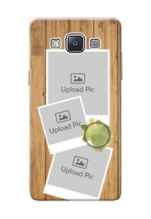 Samsung Galaxy A5 (2015) 3 image holder with wooden texture  Design