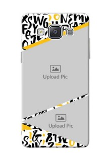 Samsung Galaxy A5 (2015) 2 image holder with letters pattern  Design