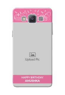Samsung Galaxy A5 (2015) plain birthday line arts Design