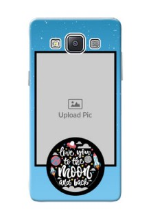 Samsung Galaxy A5 (2015) love quote with zig zag pastel pattern Design