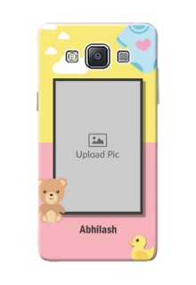 Samsung Galaxy A5 (2015) kids frame with 2 colour design with toys Design
