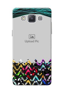 Samsung Galaxy A5 (2015) neon background with abstract Design