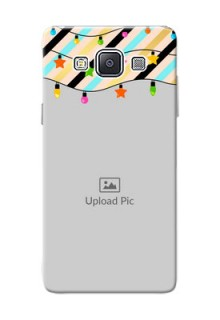 Samsung Galaxy A5 (2015) diagonal stripped pattern with hanging lights Design
