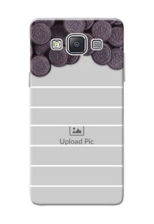 Samsung Galaxy A5 (2015) oreo biscuit pattern with white stripes Design Design