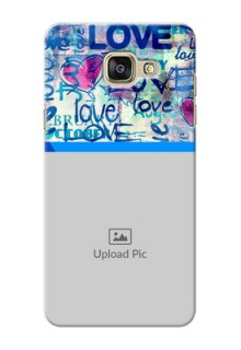 Samsung Galaxy A5 (2016) Colourful Love Patterns Mobile Case Design