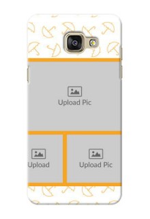 Samsung Galaxy A5 (2016) Yellow Pattern Mobile Back Cover Design