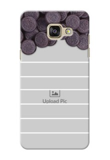Samsung Galaxy A5 (2016) oreo biscuit pattern with white stripes Design Design