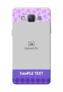 Samsung Galaxy A5 Duos Floral Design Purple Pattern Mobile Cover Design