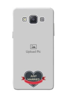Samsung Galaxy A5 Duos Just Married Mobile Cover Design