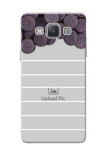 Samsung Galaxy A5 Duos oreo biscuit pattern with white stripes Design Design