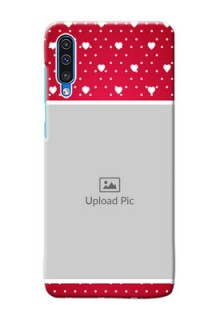 Galaxy A50 custom back covers: Hearts Mobile Case Design