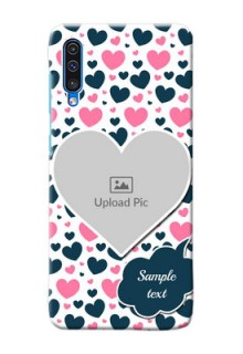 Galaxy A50 Mobile Covers Online: Pink & Blue Heart Design