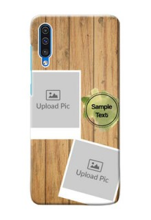 Galaxy A50 Custom Mobile Phone Covers: Wooden Texture Design