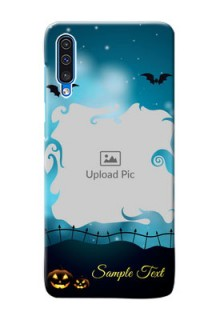 Galaxy A50 Personalised Phone Cases: Halloween frame design