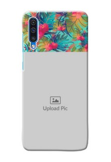 Galaxy A50 Personalized Phone Cases: Watercolor Floral Design
