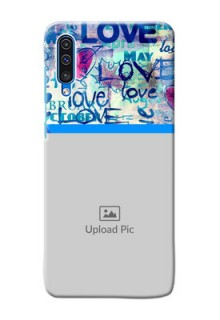 Galaxy A50s Mobile Covers Online: Colorful Love Design