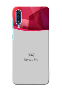 Galaxy A50s custom mobile back covers: Red Abstract Design