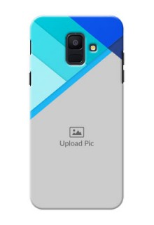 Samsung Galaxy A6 2018 Blue Abstract Mobile Cover Design