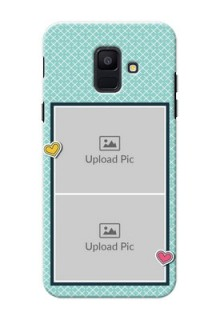 Samsung Galaxy A6 2018 2 image holder with pattern Design