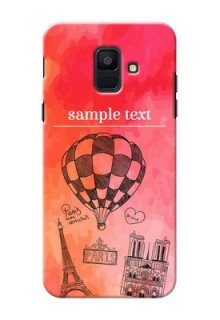 Samsung Galaxy A6 2018 abstract painting with paris theme Design