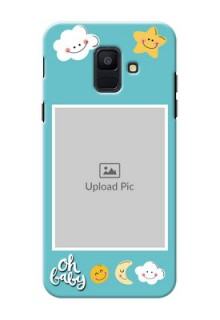 Samsung Galaxy A6 2018 kids frame with smileys and stars Design