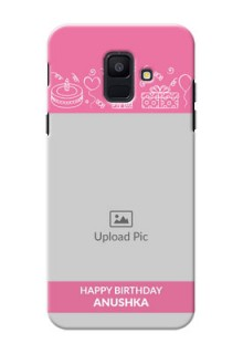 Samsung Galaxy A6 2018 plain birthday line arts Design