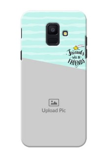 Samsung Galaxy A6 2018 2 image holder with friends icon Design