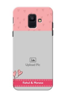 Samsung Galaxy A6 2018 love doodles frame Design