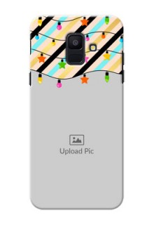 Samsung Galaxy A6 2018 diagonal stripped pattern with hanging lights Design