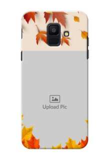 Samsung Galaxy A6 2018 autumn maple leaves backdrop Design