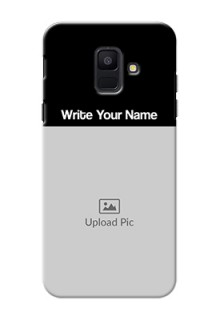 Galaxy A6 2018 Photo with Name on Phone Case