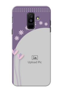 Samsung Galaxy A6 Plus 2018 lavender background with flower sprinkles Design