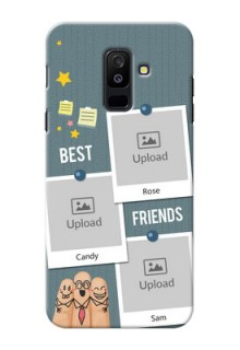 Samsung Galaxy A6 Plus 2018 3 image holder with sticky frames and friendship day wishes Design