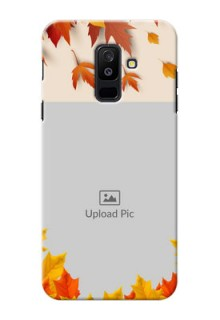Samsung Galaxy A6 Plus 2018 autumn maple leaves backdrop Design