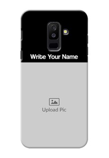 Galaxy A6 Plus 2018 Photo with Name on Phone Case