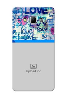Samsung Galaxy A7 (2015) Colourful Love Patterns Mobile Case Design
