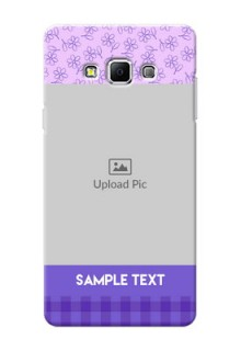 Samsung Galaxy A7 (2015) Floral Design Purple Pattern Mobile Cover Design