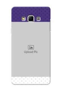 Samsung Galaxy A7 (2015) Violet Pattern Mobile Cover Design