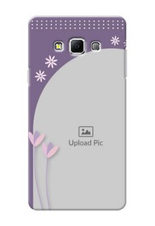 Samsung Galaxy A7 (2015) lavender background with flower sprinkles Design Design