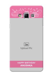 Samsung Galaxy A7 (2015) plain birthday line arts Design Design