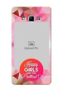 Samsung Galaxy A7 (2015) abstract traingle design with girls quote Design