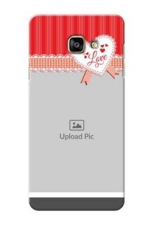 Samsung Galaxy A7 (2016) Red Pattern Mobile Cover Design