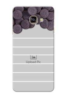 Samsung Galaxy A7 (2016) oreo biscuit pattern with white stripes Design Design