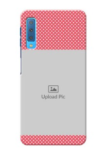 Samsung Galaxy A7 (2018) Custom Mobile Case with White Dotted Design