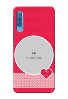 Samsung Galaxy A7 (2018) Mobile Covers Online: Pink Pattern Design