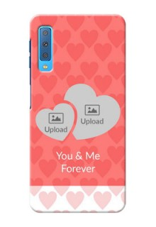 Samsung Galaxy A7 (2018) personalized phone covers: Couple Pic Upload Design